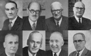 Montage of some First World War veteran staff in the 1950s