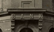 Photograph of a bank sign
