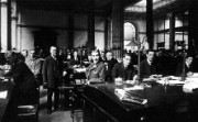 Staff in a London bank office, July 1914