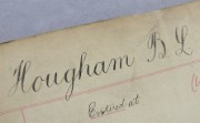 Detail of Bertram Hougham's staff card